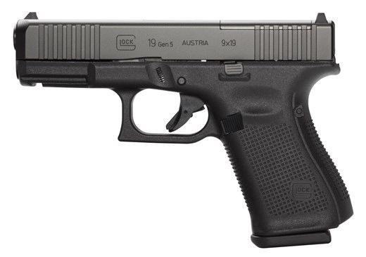 GLOCK Glock G19 Gen5 MOS 4.0In 9MM Front Serrations, 3-10rd