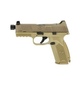 FNH FNH FN 509 Tactical 9mm 5.5In TB 9mm FDE Low Profile Optics Mounting System Night Sights 3-10Rd