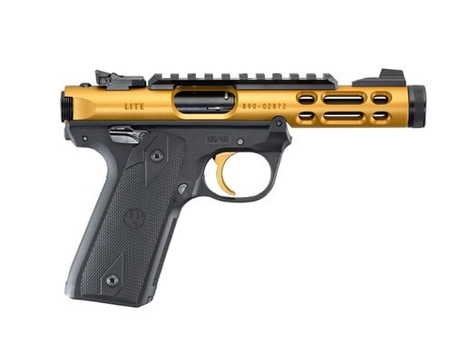 Ruger Ruger Mark IV 22/45 Lite .22Lr Gold Anodized 4.4In TB 2-10rd