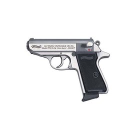 "WALTHER Walther, PPK/S, Semi-automatic Pistol, 380ACP, 3.35"" Barrel, Polymer Frame, Stainless Finish, Fixed Sights, 7Rd, 2 Magazines"