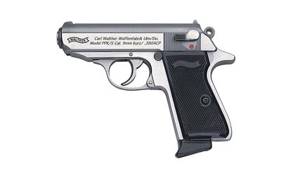 """WALTHER Walther, PPK/S, Semi-automatic Pistol, 380ACP, 3.35"""" Barrel, Polymer Frame, Stainless Finish, Fixed Sights, 7Rd, 2 Magazines"""