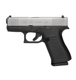 "GLOCK Glock, 43X, Semi-automatic, Striker Fired, Sub Compact, 9MM, 3.41"" Barrel, Polymer Frame, Silver Finish, 10Rd, 2 Mags, AmeriGlo Bold Night Sights"