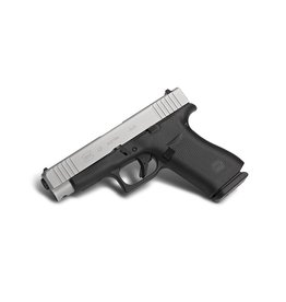 GLOCK Glock G48 9mm 4.01In Stainless nPVD Slide Front Serrations Ameriglo Bold Night Sights10rd Blue Label