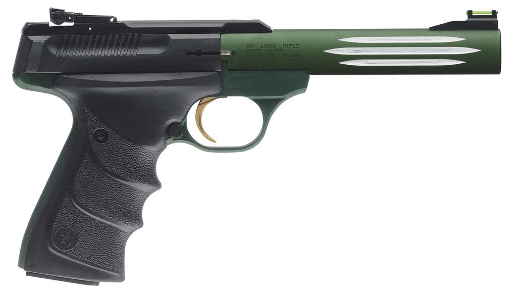 Browning Browing Buck Mark Lite Green URX 5.5in 10rd Fluted Barrel