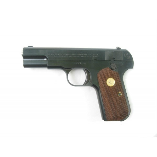 """US Armament Colt by US Armament 1903P 1903 Hammerless 32 Automatic Colt Pistol (ACP) Single 3.75"""" 8+1 Walnut Grip Gray Parkerized Slide Used Never Fired"""
