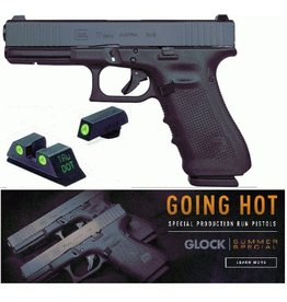 "Glock Glock G17 Gen4 Front Serrated Glock Night Sights 9mm 4.01"" 3-15rd Alter Blue Label"