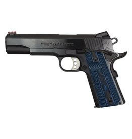 COLT Colt Series 70 Competition Steel .45 ACP 5 Inch Carbon Steel Barrel Blue Finish Novak Sights Carbon Steel Frame Blue Finish G-10 Blue Grips 8 Round
