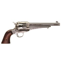 Taylor's & Co Taylor & Co. Uberti 1875 Army Outlaw White Engraved Finish 7.5In 45 Colt with Spare .45Acp Cylinder