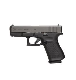 "Glock Glock G19 Gen5 9mm 4.02"" Barrel Black Armor Coating AmeriGlo Bold Sights Rough Textured Frame 5.5# Trigger 3-15rd"