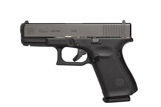 """Glock Glock G19 Gen5 9mm 4.02"""" Barrel Black Armor Coating AmeriGlo Bold Sights Rough Textured Frame 5.5# Trigger 3-15rd"""