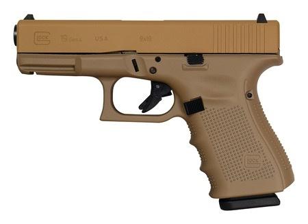 GLOCK Glock G19 Gen4 Cerakote Elite Tactical Coyote Tan 4In 9mm 3-15rd USA