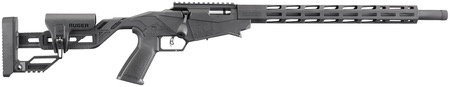 Ruger Ruger RUG Precision Rimfire .22 Long Rifle 18 Inch Threaded Barrel M-LOK Handguard Anodized Black Finish Chassis/Quick-Fit Precision Adjustable Stock 2-10 Round