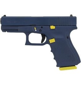 "GLOCK GLOCK G19 GEN4 9MM 4.02"" NAVY TRIBUTE 10RD Altered Fathom Blue and Insignia Yellow"