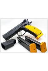 CZ CZ USA Custom Shop SP-01 Shadow Orange 9mm 4.61In Ghost Hammer Fiber Optic ront Sight Custom Machined Aluminum Grips 3-10Rd Alter