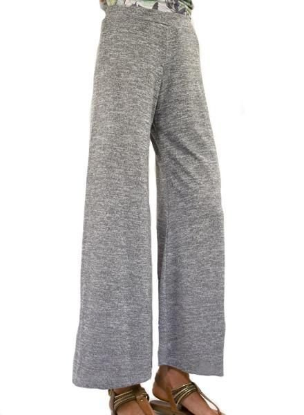 Inoah Inoah Palazzo Pant In Heather Grey