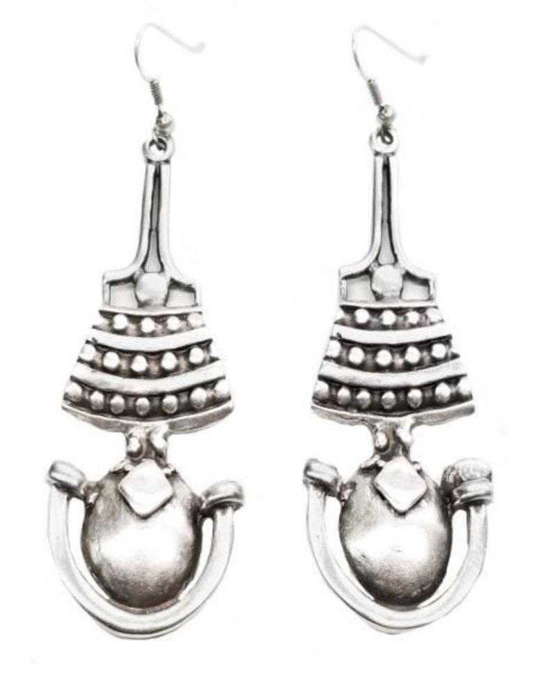Perga Earrings In Pewter