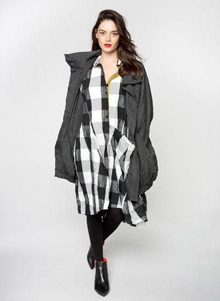 Alembika Alembika Giant Check Dress