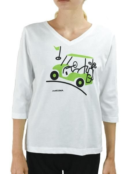 Marushka's Golf Cart Tee In White