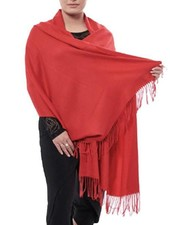 """""""Cashmere"""" Scarf/Wrap In Red"""