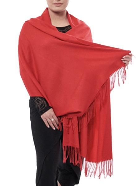 """Cashmere"" Scarf/Wrap In Red"