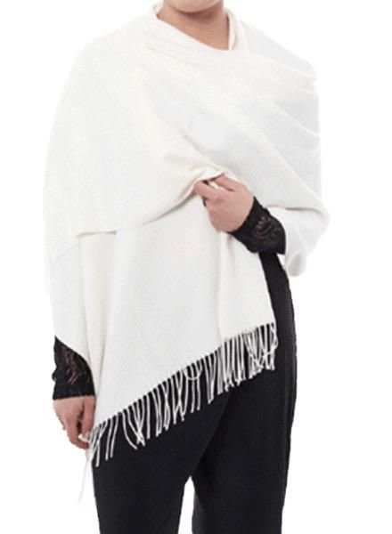 """""""Casmere"""" Scarf/Wrap In Off White"""