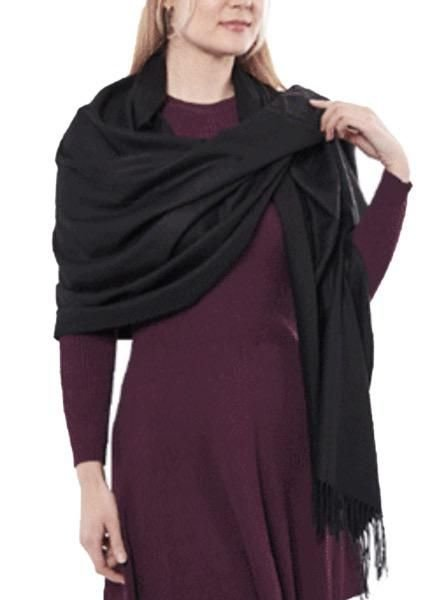 """Cashmere"" Scarf/Wrap In Black"