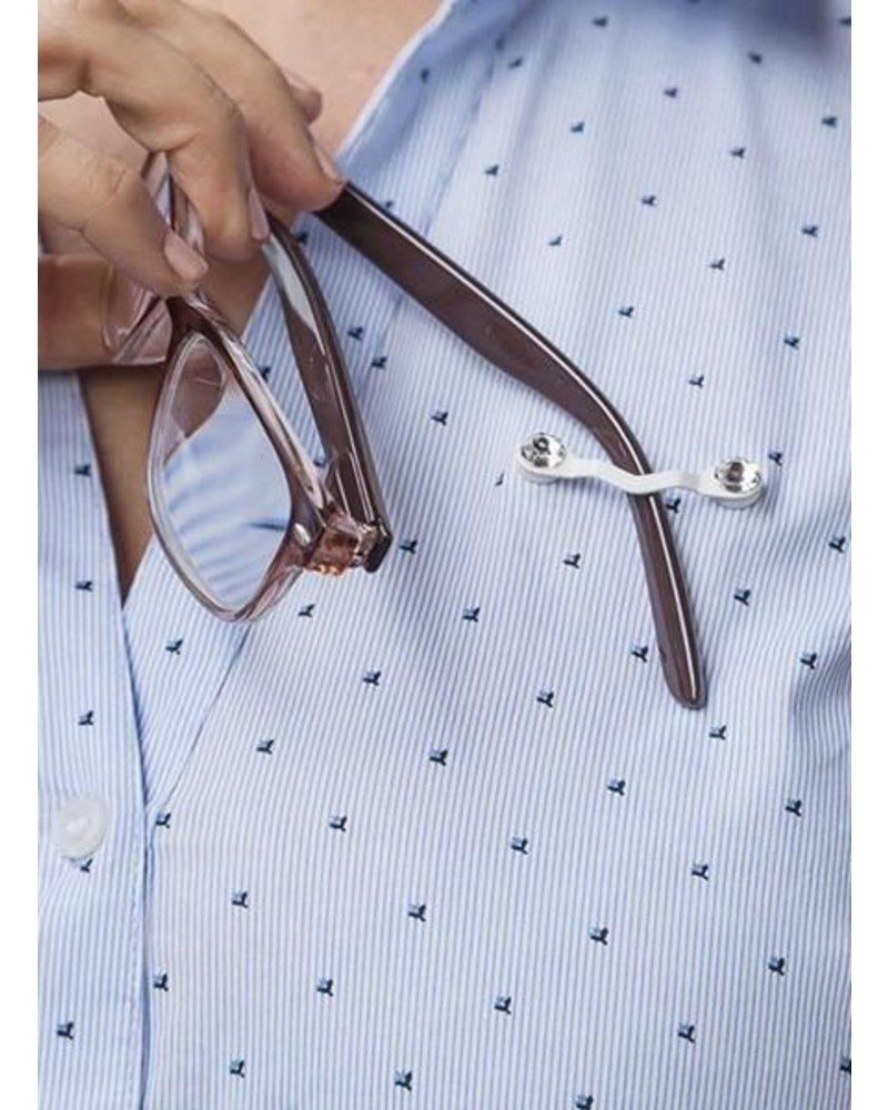Readerest Eyeglass Holder In Swarovski Crystal On White