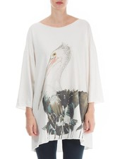 Griza Art Printed Pelican Cotton Top