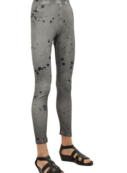 Griza's Cotton Trousers/Leggings In Ash Grey