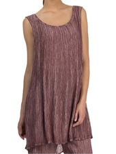 Grizas Grizas' Washed Silk Crinkle Tunic In Maroon