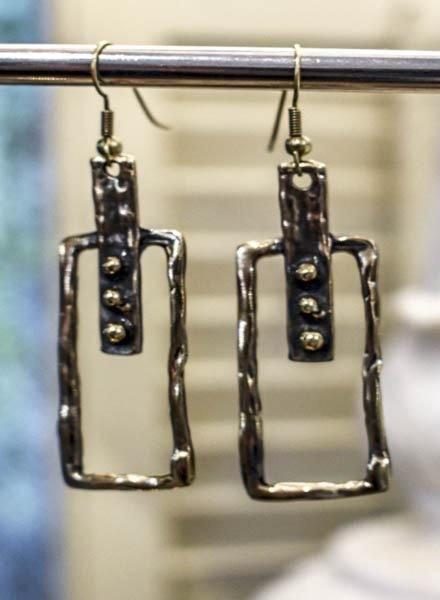 Art Earrings In Bronze