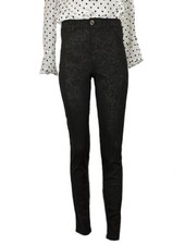 French Dressing French Dressing Crackle Black Olivia Slim Ankle Jean