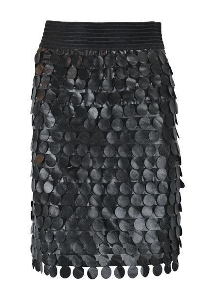 Petit Pois Leather Disc Skirt