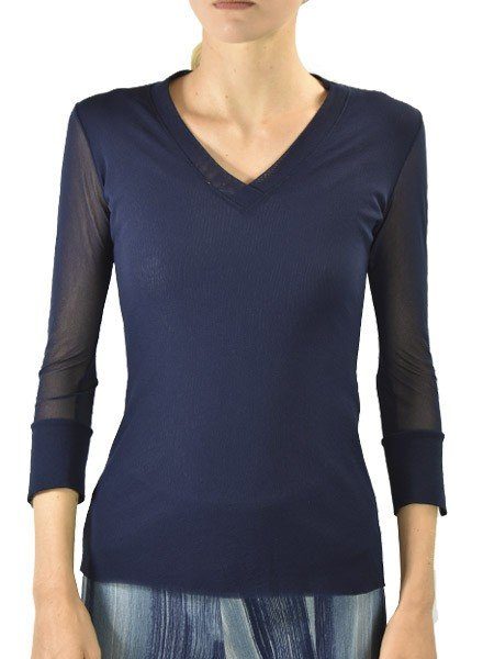 Petit Pois' Sport V-Neck In Navy