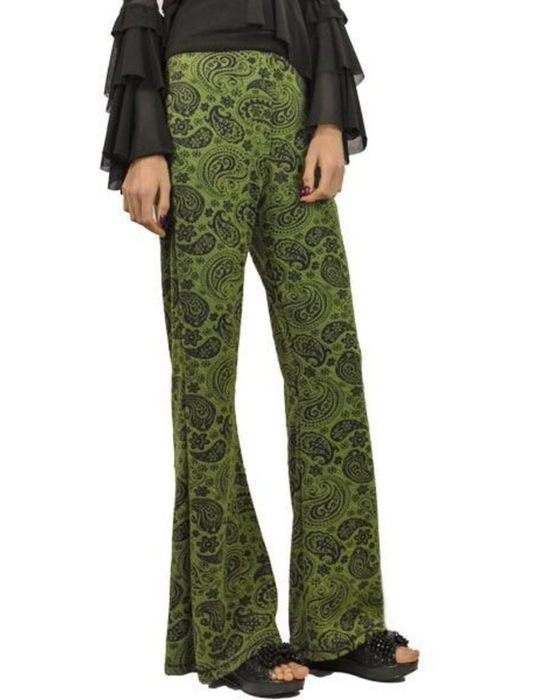 Petit Pois Bootleg Hipster Pants In Jaquard