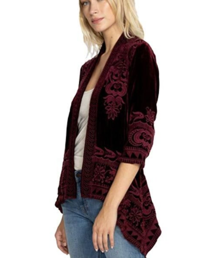 fcaf39ed8d Johnny Was Hirsch Velvet Draped Cardigan - Shady and Katie