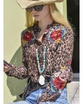 Johnny Was Johnny Was Vicki Basic Shirt In Leopard
