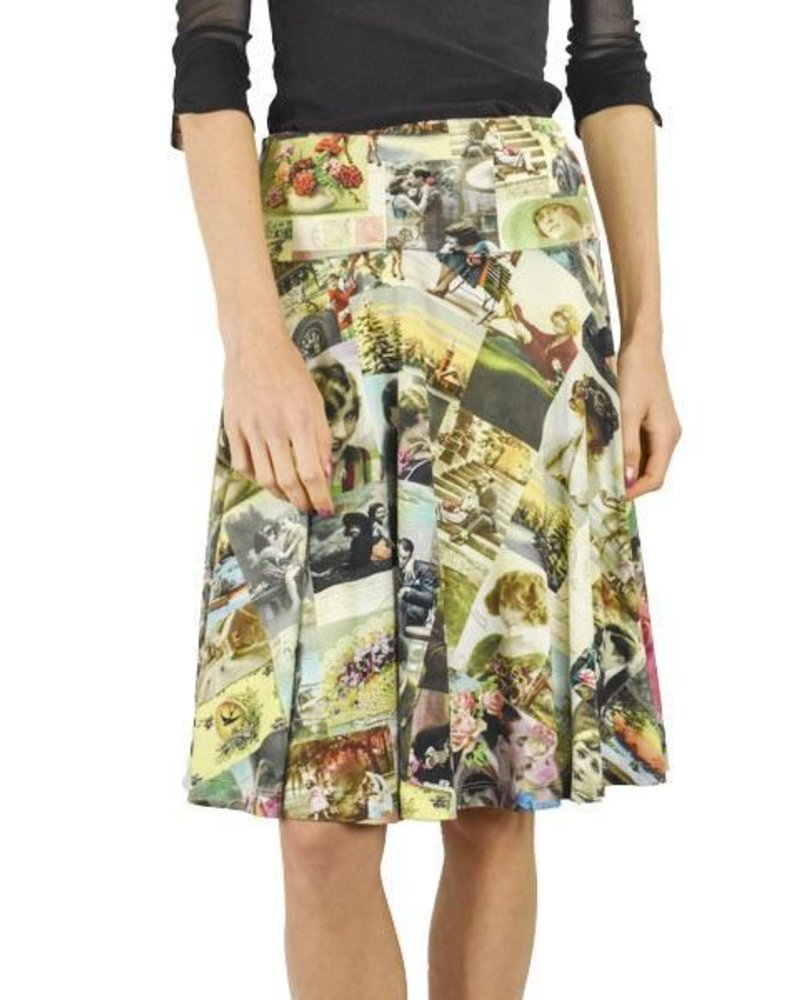 LaLamour La Lamour Circle Skirt in Nostalgic Postcard