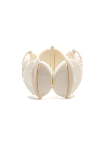 Chunky Resin Geometric Bracelet In Cream