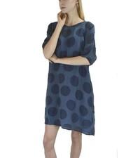 Griza's Bubble Print Tunic Dress In Cyan
