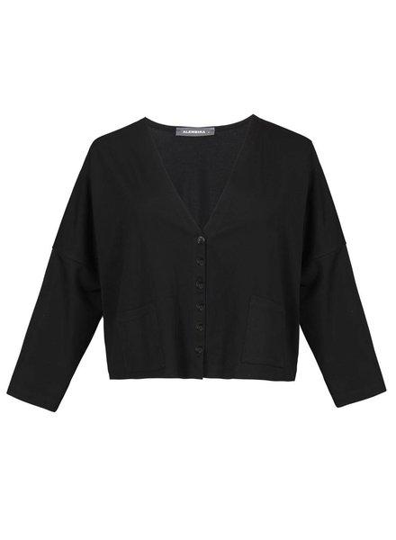 Alembika Alembika Crop Wear With Everything Jacket In Black