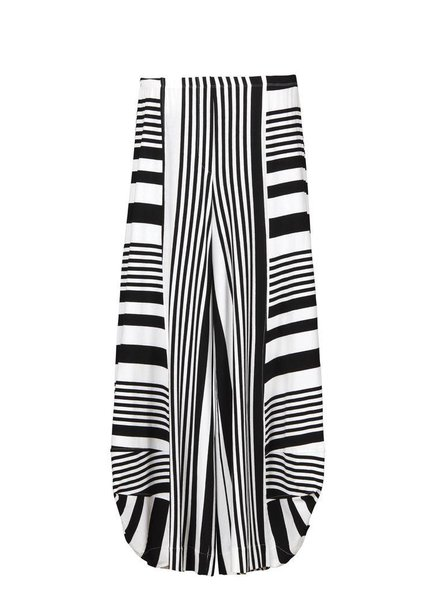 Alembika Alembika Take Me To Rio Pants In B&W Stripe