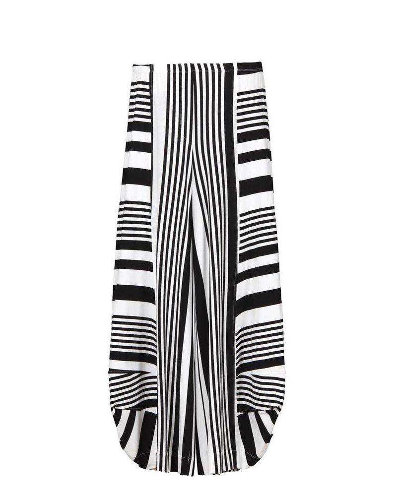 Alembika Alembika Take Me To Rio Pants In B&W Stripe