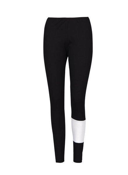 Alembika Alembika Bold White Stripe Leggings