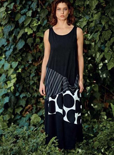 Alembika Alembika Sleeveless Streets  Dress In Black & Whites