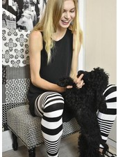 Alembika Alembika Black & White Stripe Leggings