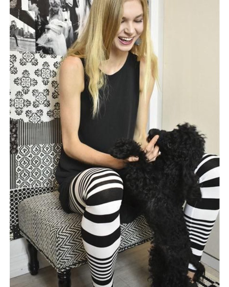 8be885dfc759e Alembika Black & White Stripe Leggings - Shady and Katie