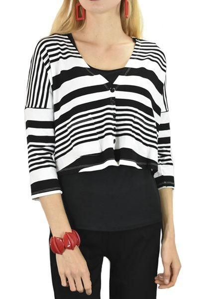 Alembika Alembika Crop Striped Wear With Everything Jacket