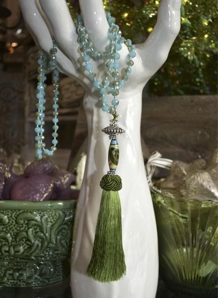 The Long Collection - Green Tassel