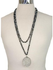 The Long Collection - White Druzy